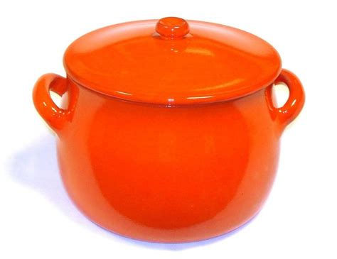 earthy orange piral stewpot 5 5 quart 2 handle with lid earthy orange
