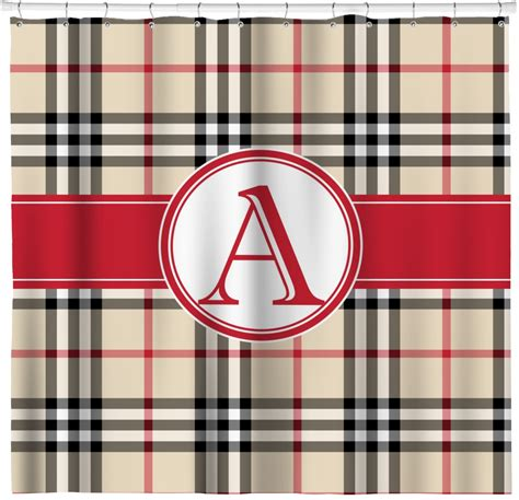 plaid shower curtains red tan plaid shower curtain personalized potty
