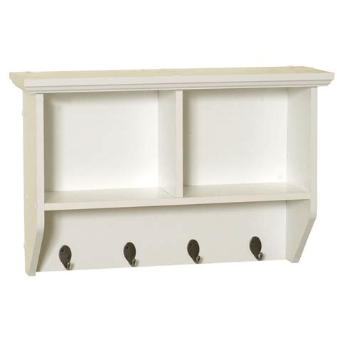 Zenith Collette 23 In W Wall Cubby Shelf In White 9924wwa Zenith Bathroom Wall Cabinet