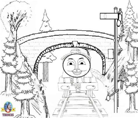 engine gordon the train coloring pages climbing a hill