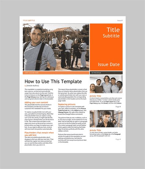 free newsletter templates for word word newsletter template 31 free printable microsoft