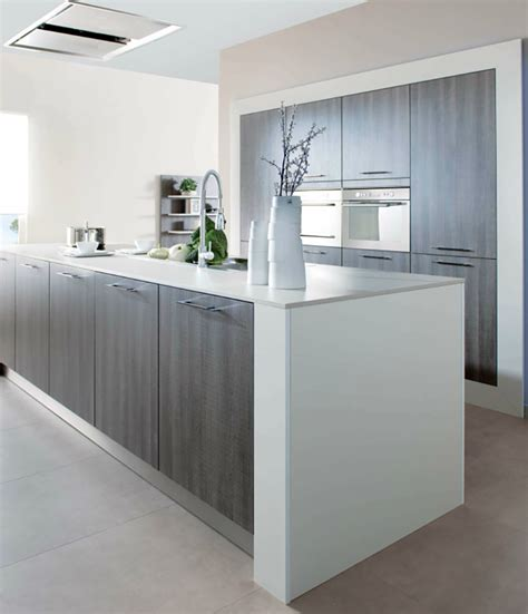 White Kitchen Island With Breakfast Bar by Contemporary Kitchens
