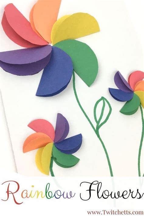 Crafts To Make With Construction Paper - 25 best ideas about flower crafts on paper