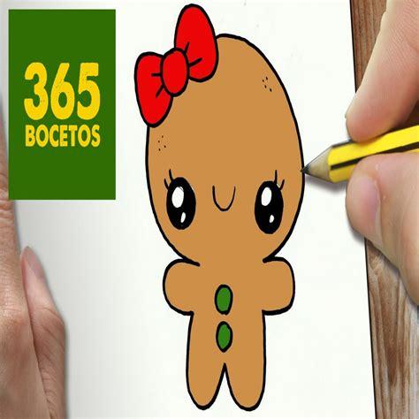 dibujos de navidad paso a paso o dibujar un galleta para navidad paso a paso dibujos kawaii dibujosparacolorear