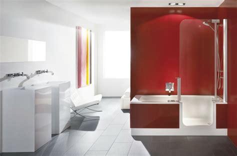 badewanne mit dusche intergriert  raumsparideen fuer