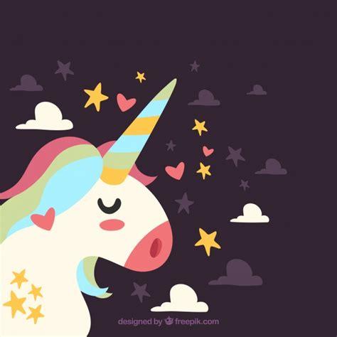 imagenes de unicornios gratis fondo de bonito unicornio de perfil descargar vectores