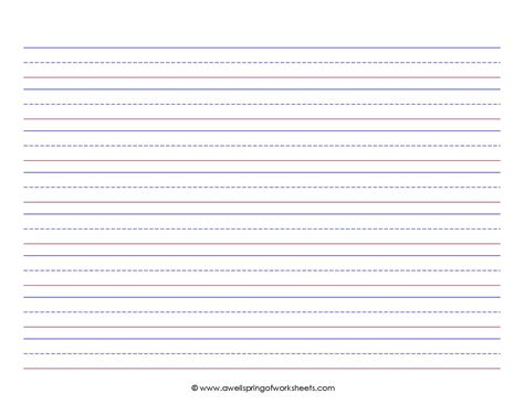 printable writing paper first grade 5 best images of 1st grade printable lined paper
