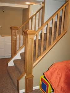 oak railing banister by spike lumberjocks
