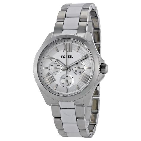 Fosil Multi fossil cecile multi function white white and stainless steel am4544 cecile