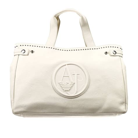 Giorgio Armani Handbag Big Size lyst giorgio armani handbag bag ecoleather soft with studds shopping big in white