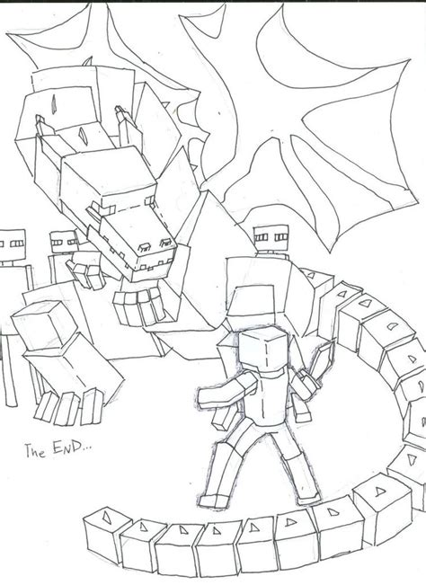 minecraft end coloring pages ender dragon coloring pages google search food