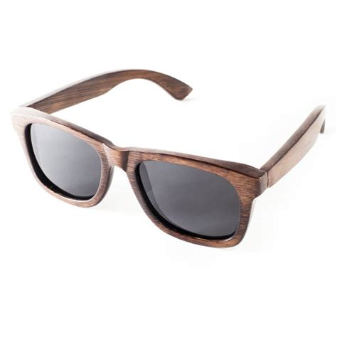 Handmade Sunglasses - handmade bamboo wayfarer sunglasses grain by