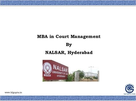 Mba In Project Management In Hyderabad by Induction Of National Court Management Authority In Indian