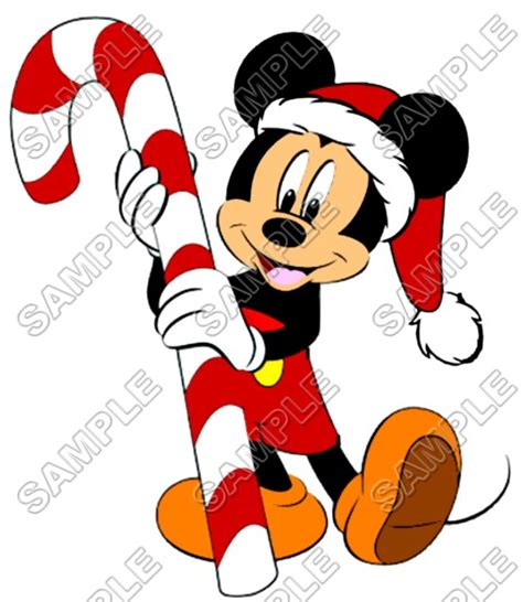 mickey mouse christmas santa  shirt iron  transfer decal