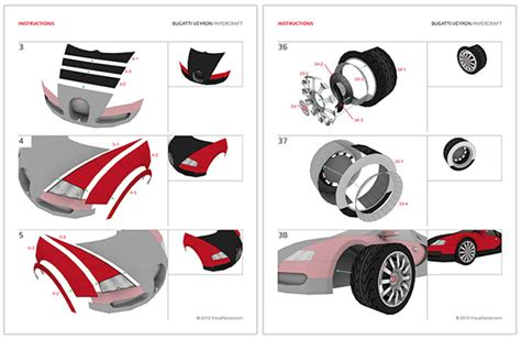 quot bugatti veyron quot paper supercraft on behance