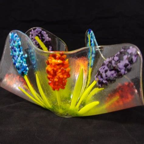Tulip Vase Fused Glass Flowers Framed Picmia