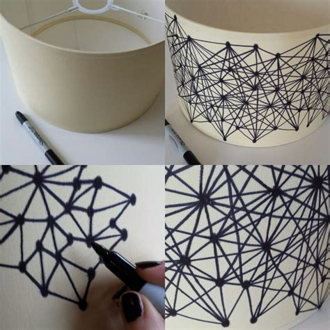 Craft Paper L Shades - sharpie pen lshade diy crafts
