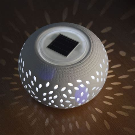 Ceramic Outdoor Lighting Outdoor Garden Solar Powered Decortaion Jar Ceramic Cone Lights Lighting Ls Ebay