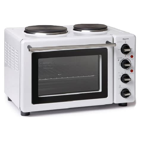 royale tt29 table top compact electric cooker in white 30l