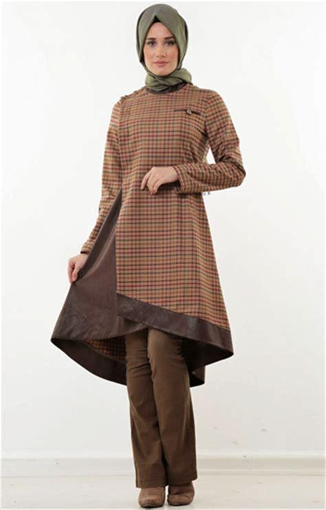 Dress Tunik Katun Kotak Kotak 13 kreasi baju muslim tunik terbaru til trendy dan