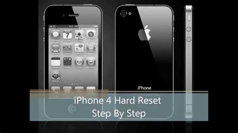 factory reset the iphone 4s how to hard reset iphone 4 4s step by step youtube
