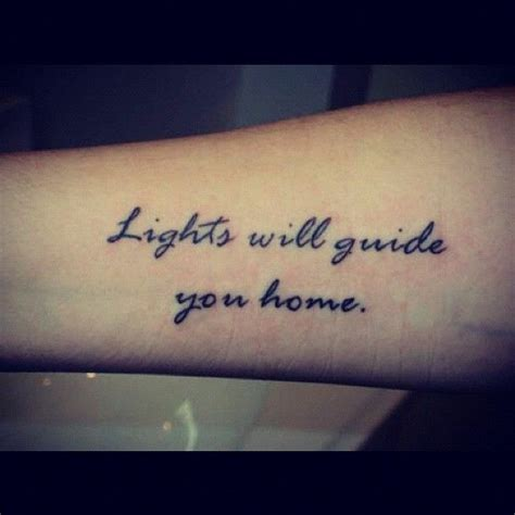 tattooed heart español ingles little forearm tattoo saying lights will guide you