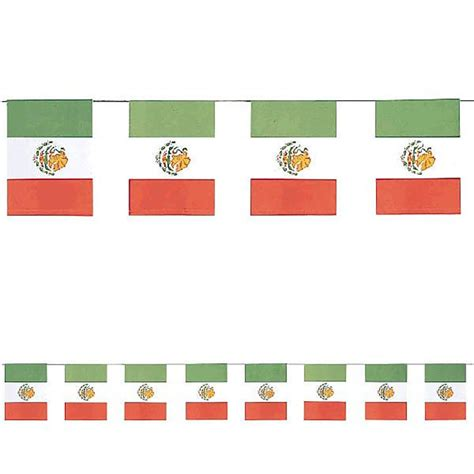 A Paper Banner - mexican flags paper banner mexican decoration