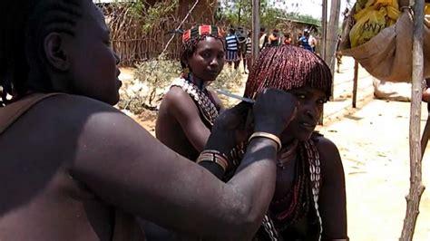 cut patches ethopia hir ethiopia hair cut at tribe hammar youtube