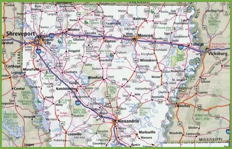 map of northern usa map of northern louisiana