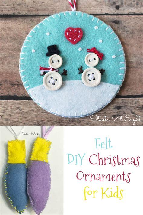 felt ornaments for felt diy ornaments for startsateight