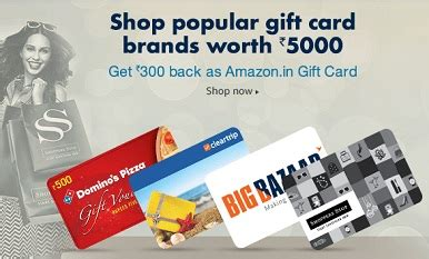 Offer Gift Cards To Customers - amazon gift card offer get rs 300 cashback on shoppinng