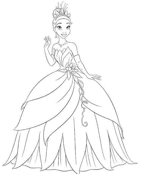 disney tiana coloring pages coloring pages