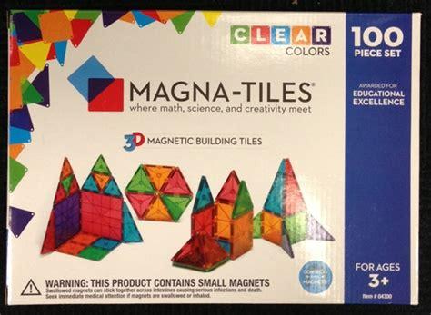 magna tiles clear colors 100 set valtech magna tiles 100 clear colors value pack set