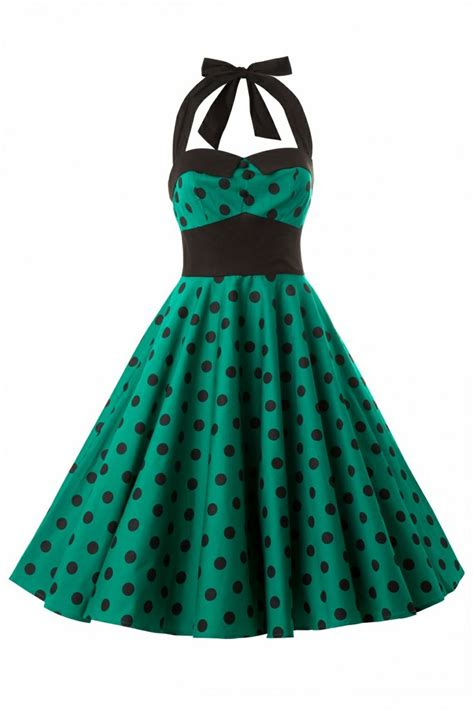 swing kleid polka dots topvintage bunny adelaide 50s swing halter dress in