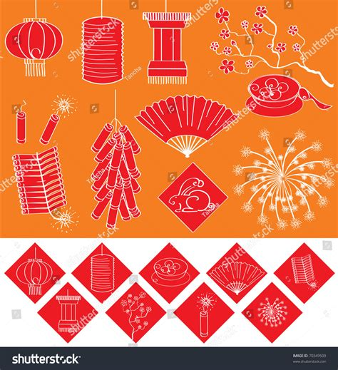 new year symbols list new year elements for celebrations vector symbols