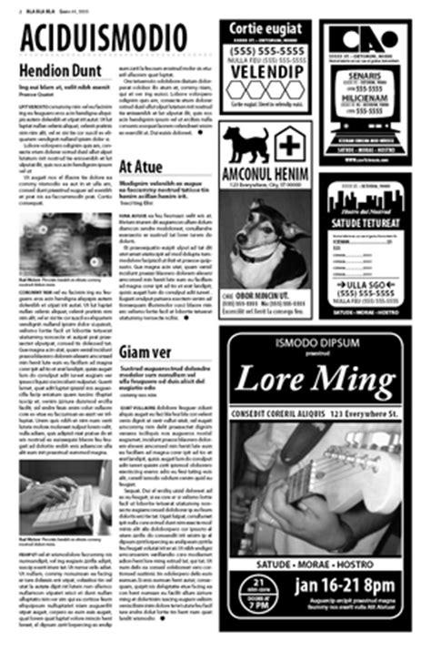 newspaper layout in coreldraw corporate training in indesign flash dreamweaver8