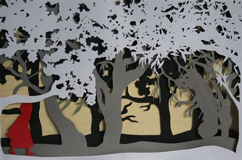 How To Make Layered Papercuts - cap layered fairytale papercut by studio