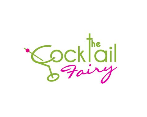cocktail logo playful feminine logo design for the cocktail fairy by