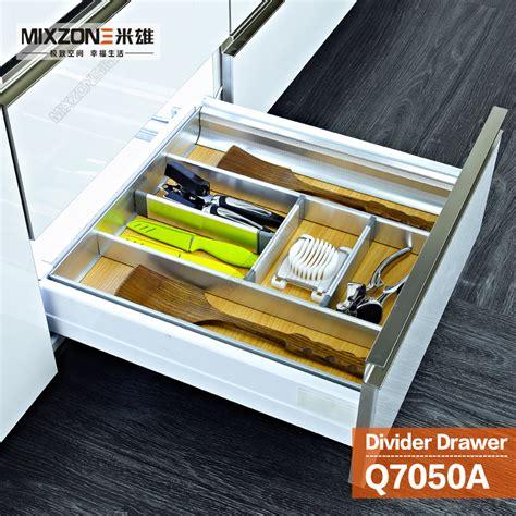 Kitchen Drawer Soft by Kitchen Cabinet Aluminum Alloy Wood Utensil Divider Basket Drawer Organizer With Soft