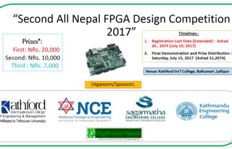 design contest 2017 second all nepal fpga design competition 2017