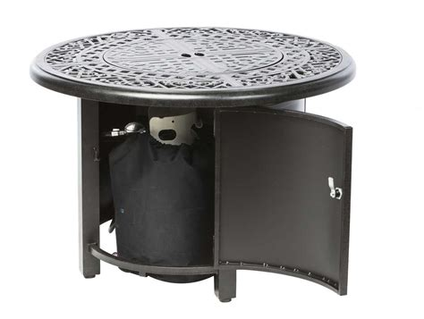 gas fire table kit alfresco home kinsale 36 round gas fire pit chat table