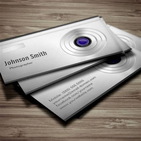 Featured Digital Camera Lens Photography Business Cards Lens Studio Templates