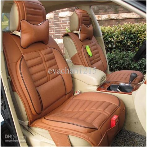 dc upholstery car seat covers danny leather material with natural