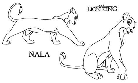 The Lion King Image Archive Nala Nala Coloring Pages