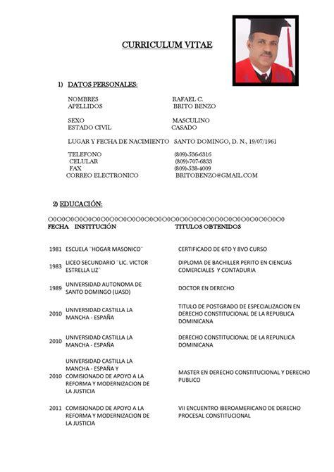 Modelo Curriculum Dominicano curriculum vitae brito benzo 1 by julio castro issuu