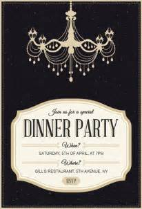 Classy chandelier free printable dinner party invitation template