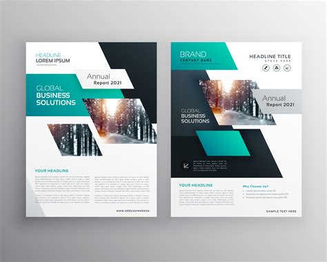 Geometric Business Brochure Flyer Design Vector Template Download Free Vector Art Stock Flyer Brochure Templates Free