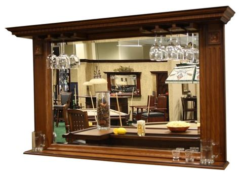 Barregal Mit Spiegel by American Heritage Kokomo Back Bar Mirror W Display Shelf