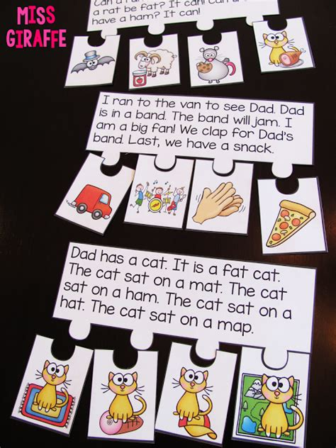 themes for reading comprehension short vowels reading fluency and sequencing puzzles that