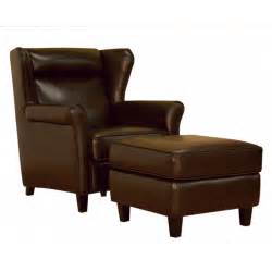 Leather Chair Ottoman Brown Leather Club Chair And Ottoman